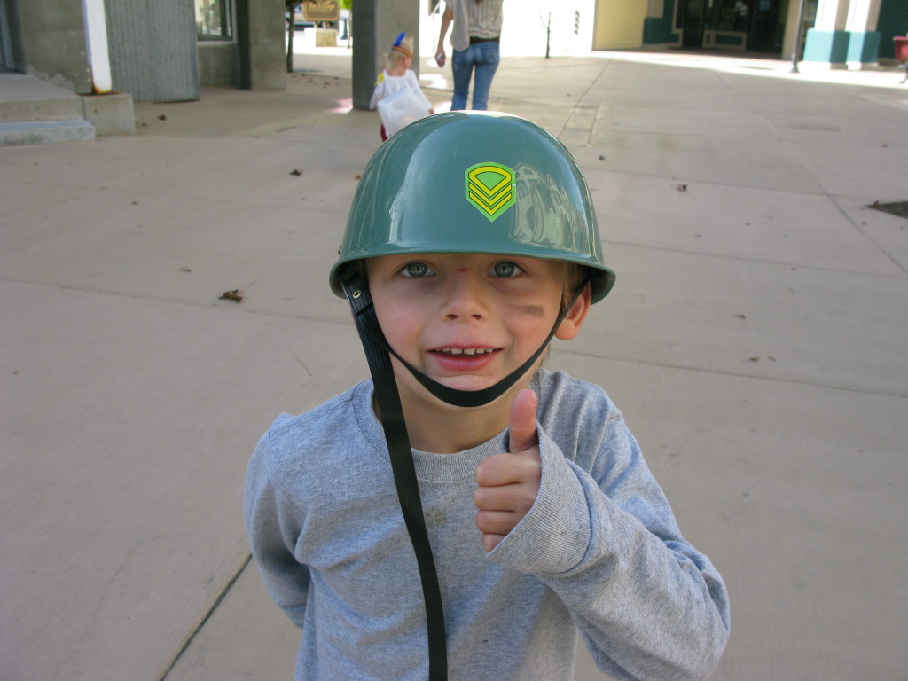 military costume idea for boy