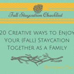 staycation ideas for fall