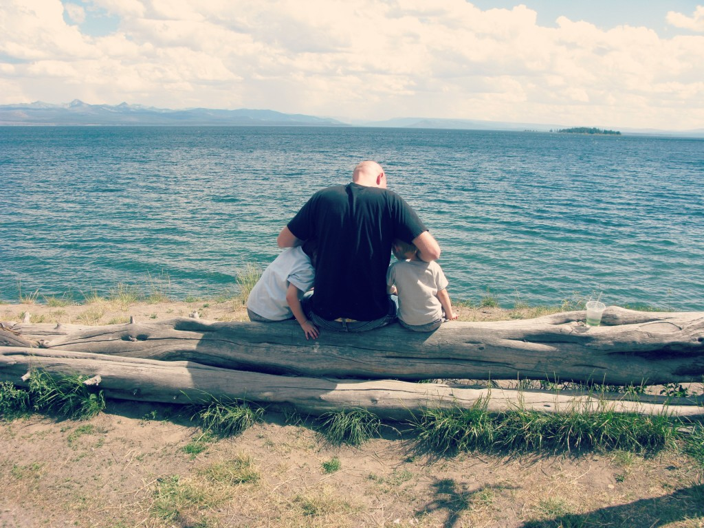 yellowstone lake father son