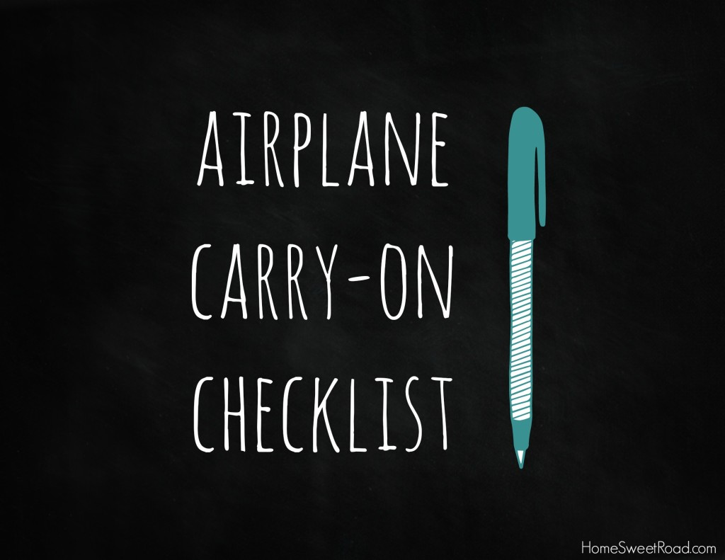 airplane carry-on check list