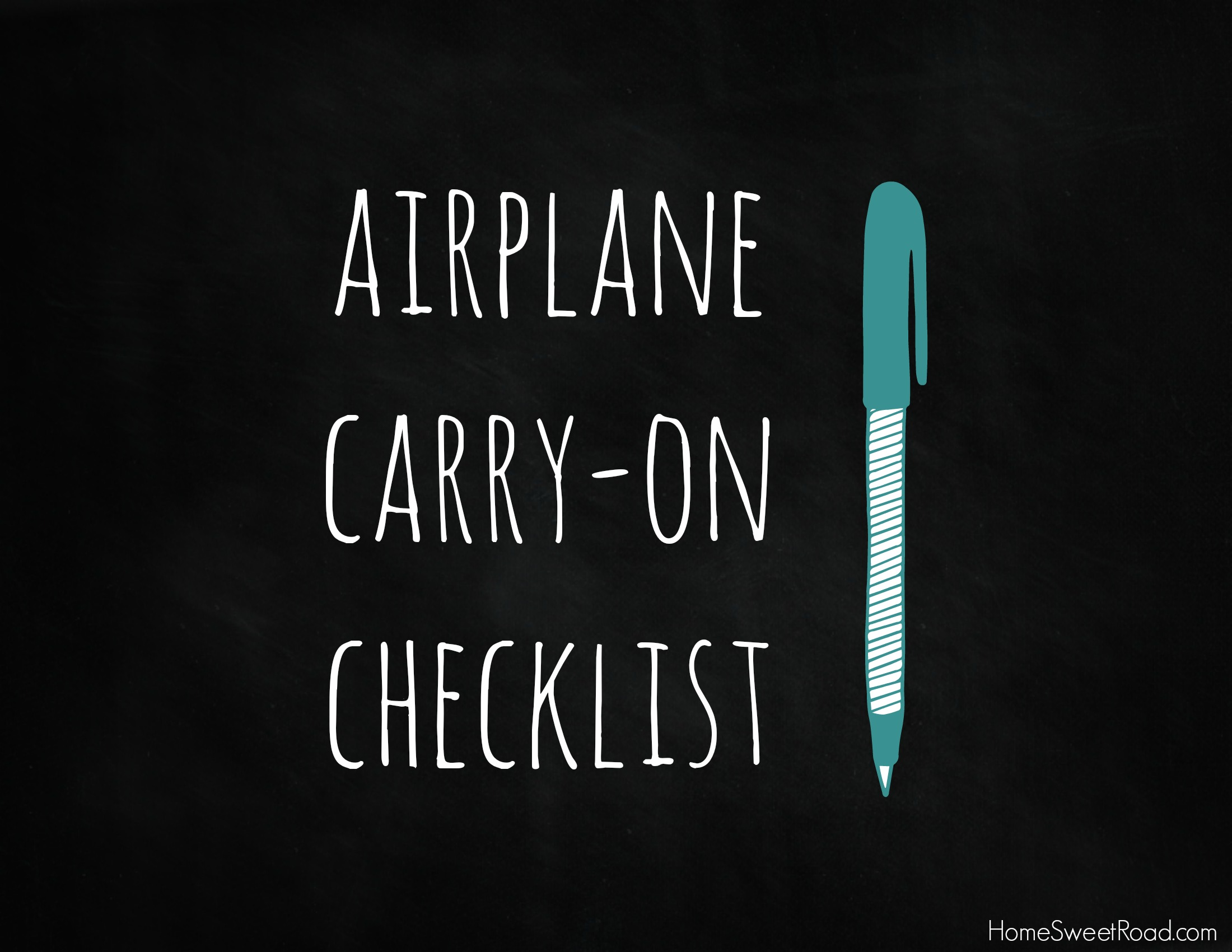 Airplane Carry-on List