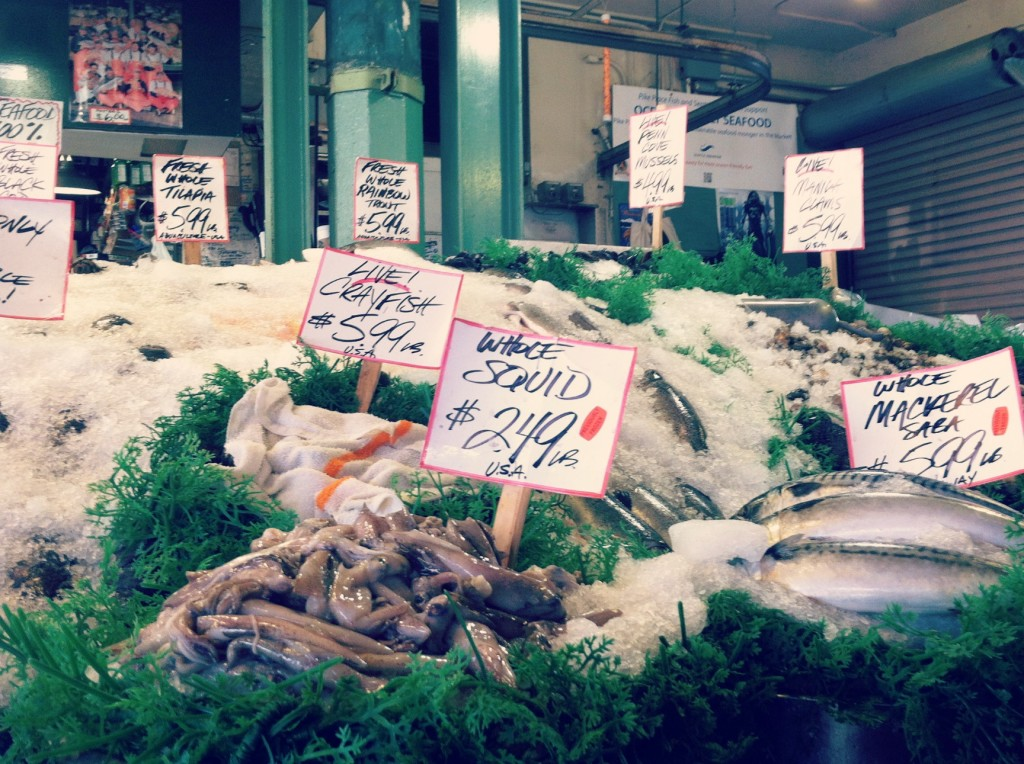 Beyond fish throwing exploring pike place market in for Pike place fish