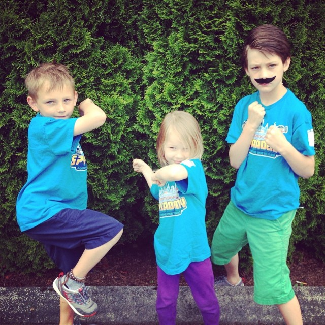 Don't mess these guys are fierce!  Spies in training @ #vbs this week!