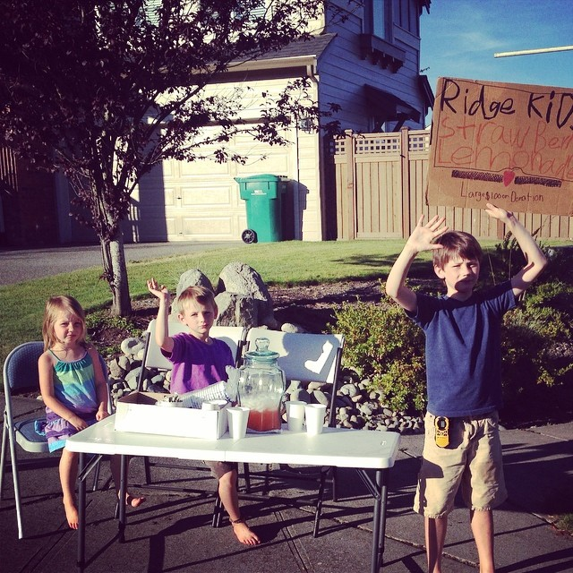 This is happening!  #youngentreprenuers #bizkids #lemonadestand #toocute