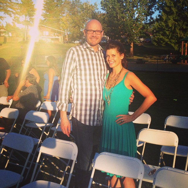 Love is in the air!  I love going to weddings -- especially with this guy.  #dateyourhusband #strongluv