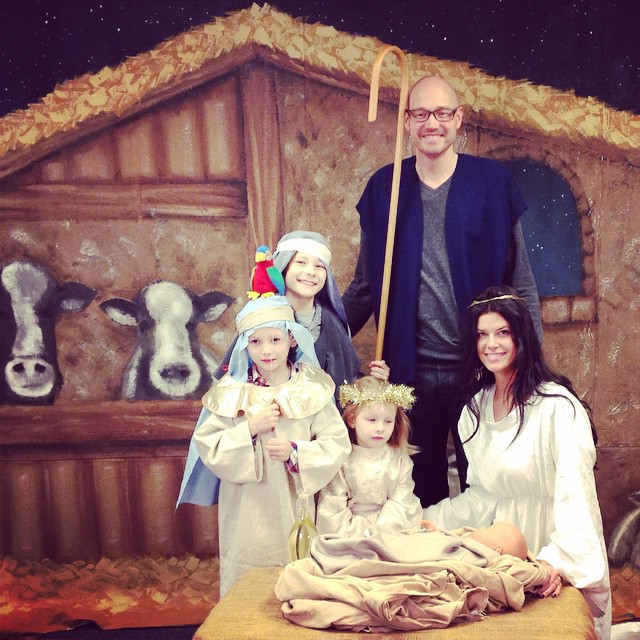 Come let us adore Him! With @therealdavidoak.  #nativity