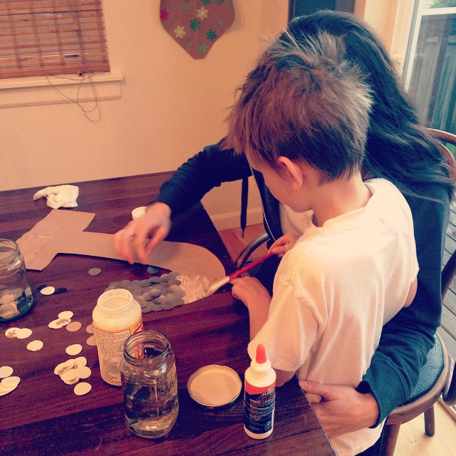 Crafting with this one makes my heart glad!  #qualitytime #motherson